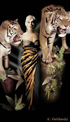 Marilyn Monroe with Tigers