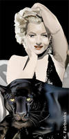 Marilyn Monroe with Panther