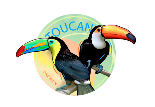 Toucan - digital drawing