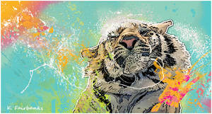 Psychedelic Tiger by kfairbanks
