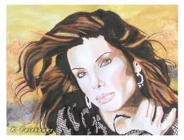 Sandra Bullock (watercolor painting) by kfairbanks