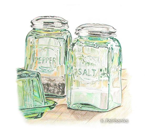Salt And Pepper Pencil Drawing By Kfairbanks On Deviantart