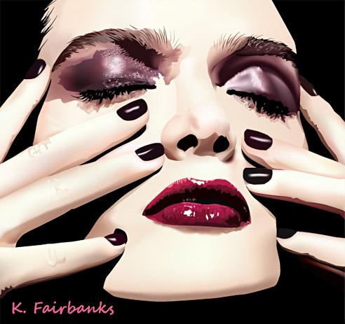 Яркий макияж с красными тенями 50