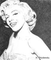 Marilyn Millionaire (media: ball point pen)