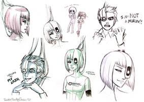 Portal 2 Sketches -Spoilers- by TwinklePowderySnow