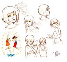 POTaTOS and Chell Sketches by TwinklePowderySnow