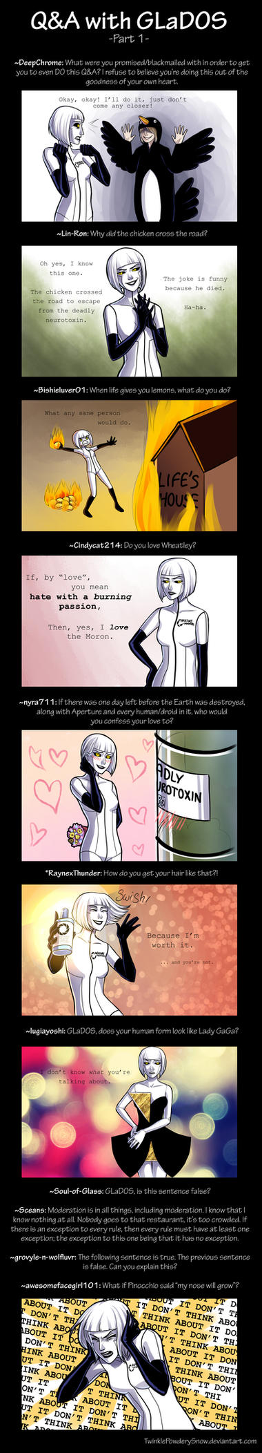 Q and A With GLaDOS by TwinklePowderySnow