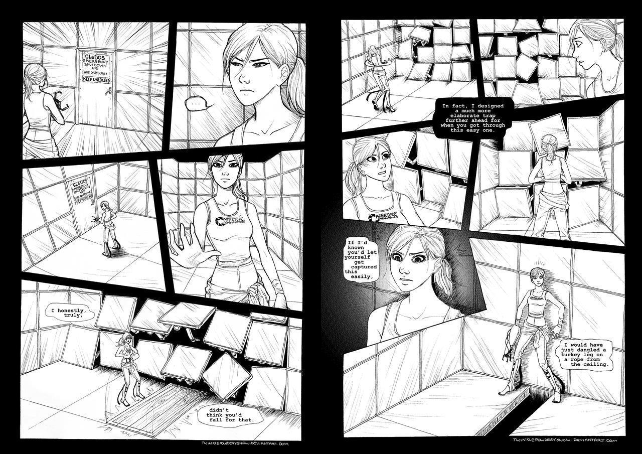Portal Comic Pages 1-2 by TwinklePowderySnow