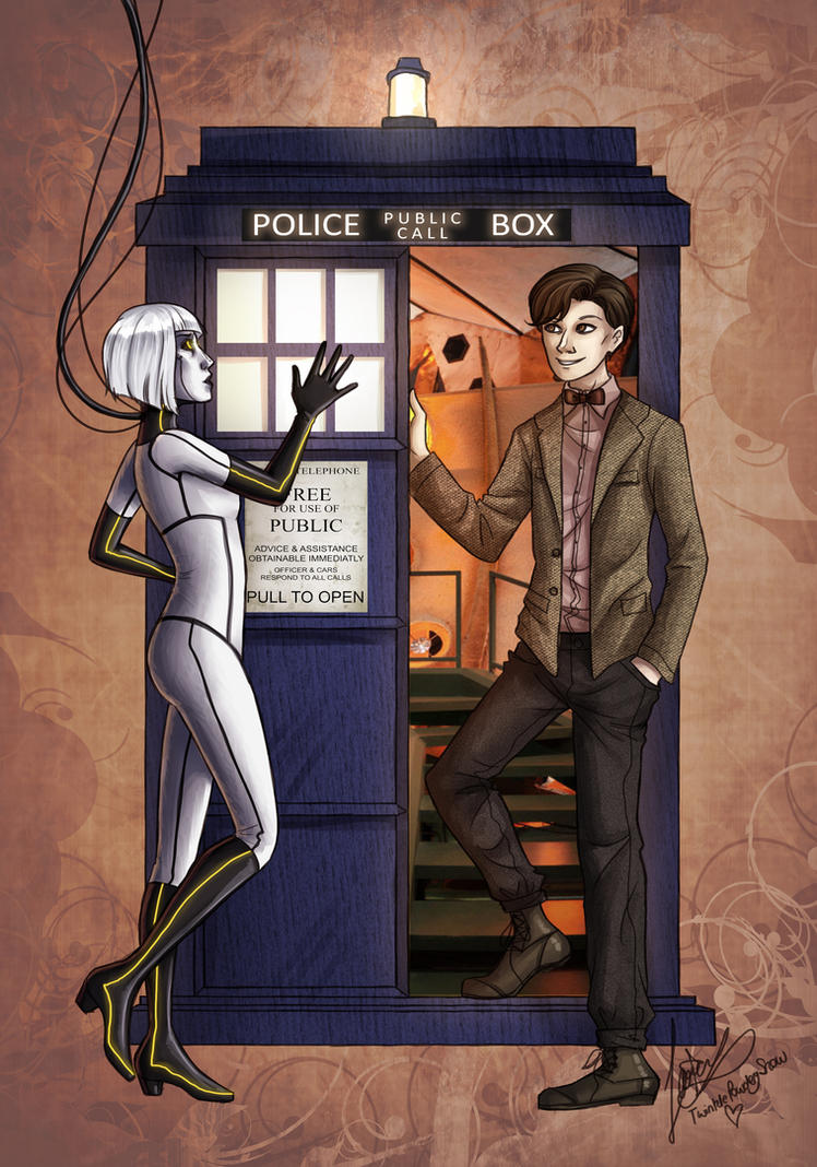The Doctor meets GLaDOS by TwinklePowderySnow