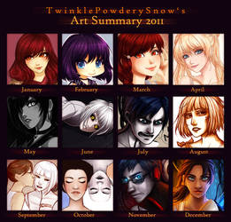 Art Summary 2011 by TwinklePowderySnow