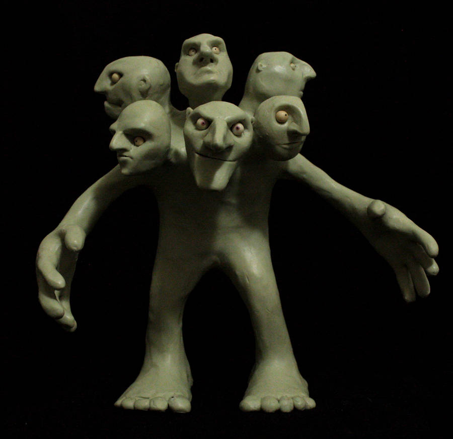Six-headed troll (head 4) by AndreasFrancis