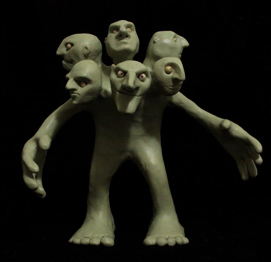 Six-headed troll (head 4)