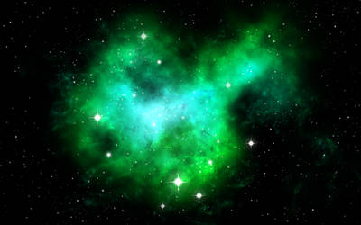 Green Nebula by Omletofon