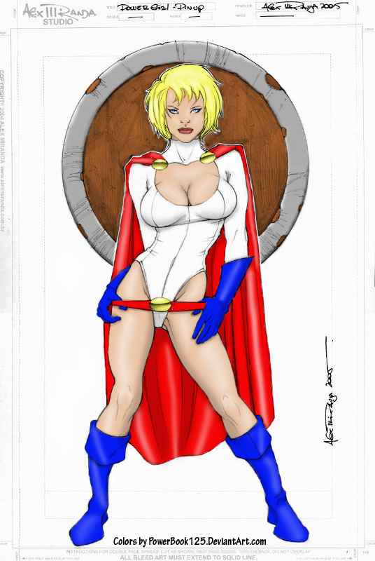PowerGirl Pinup by powerbook125