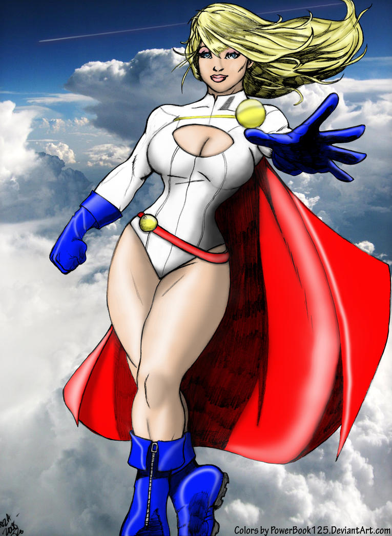 Power Girl 08 colored -3rd rev by powerbook125