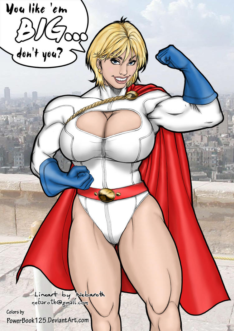 Power Girl -You like 'em Big? by powerbook125
