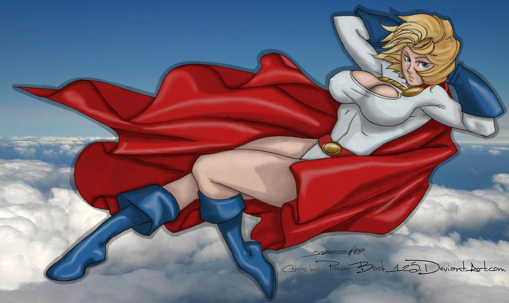 Power Girl gliding by powerbook125