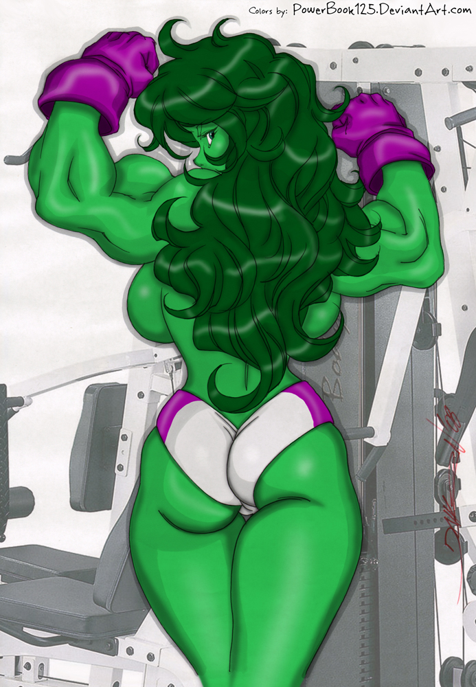 She Hulk Showing Off by powerbook125