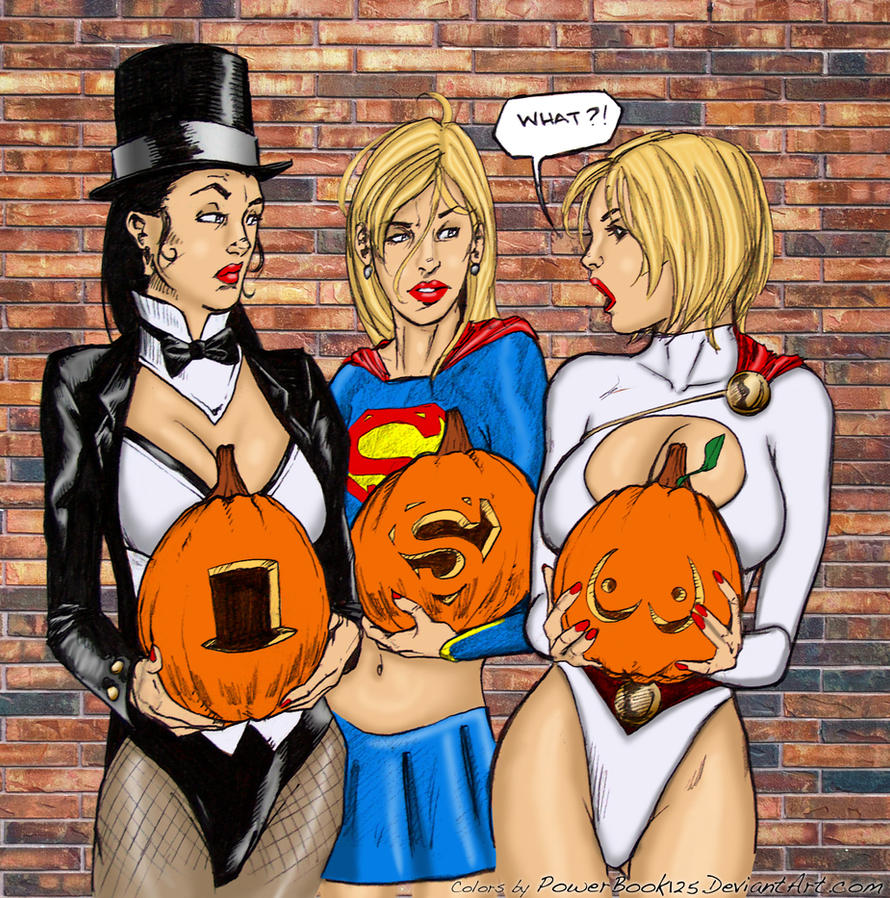 DC Girls at Halloween by powerbook125