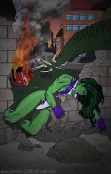 She-Hulk and City In Ruins