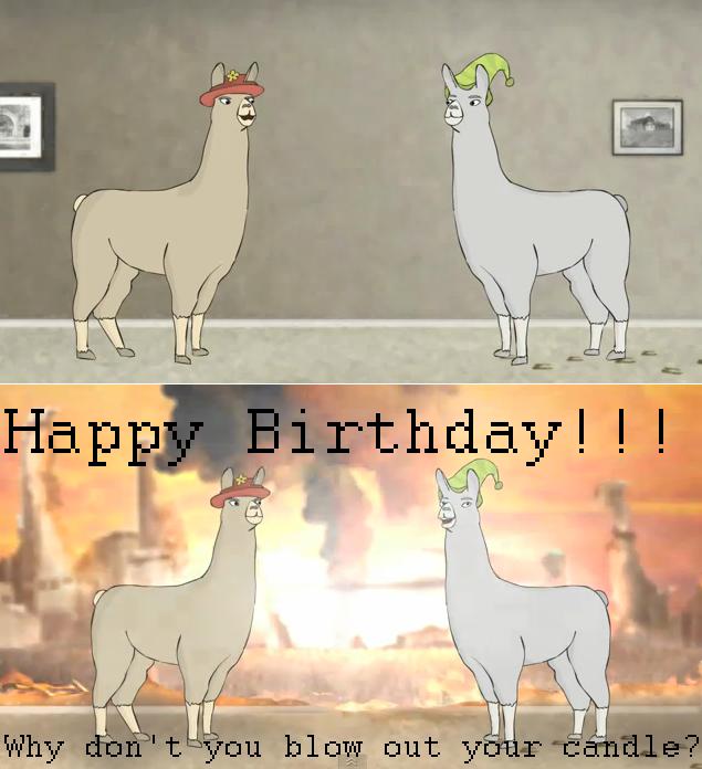 Llamas With Hats BDay Card By HeReIaMRaMbLiNgAgAin On DeviantArt - Llamas with hats cruise ship