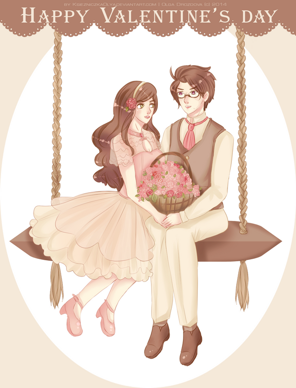 APH | AusHun - The lovers day by KsiezniczkaOlya