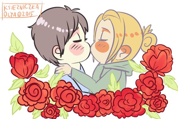 Eren and annie kiss
