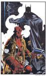 Batman Hellboy Color