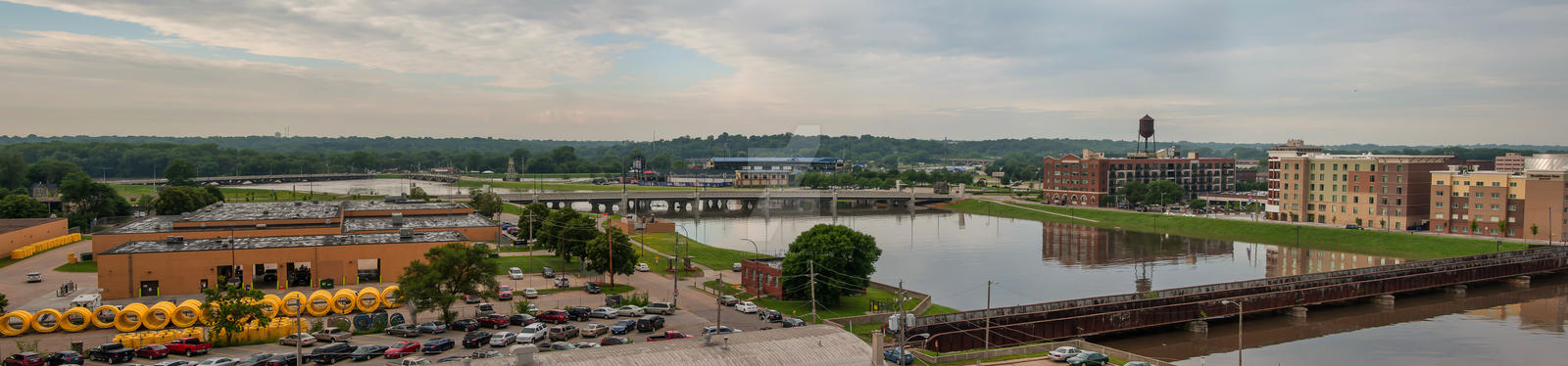 Principal Park And Des Moines River by lividity101