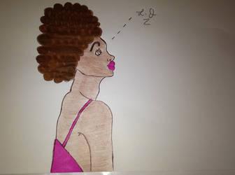 Afro Hottie by Fatal-Jay