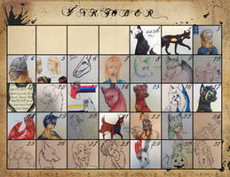 Inktober 2015 Calendar