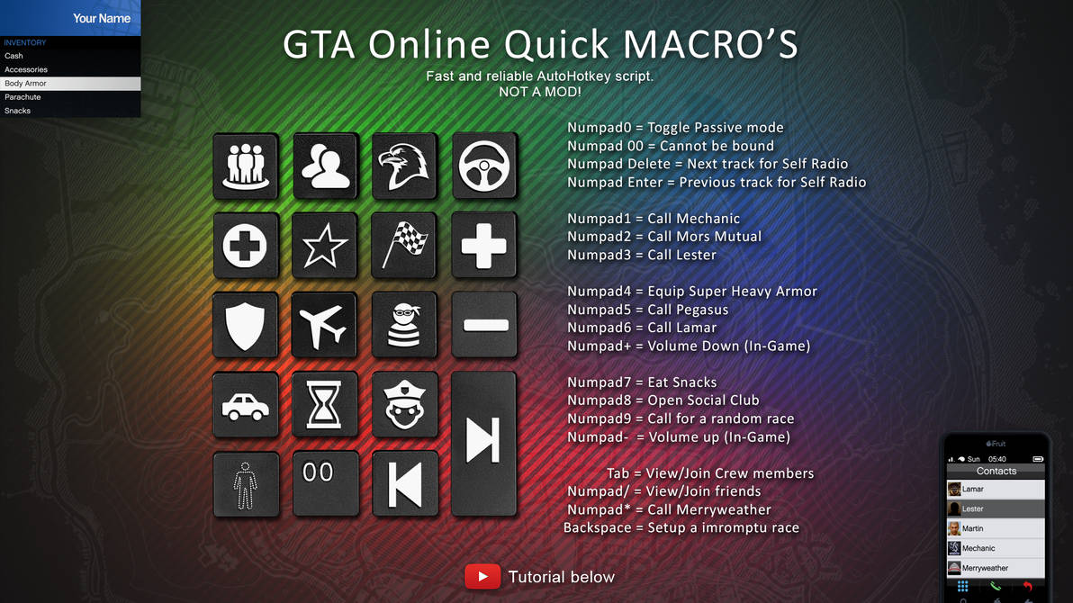 GTA Online Quick MACROS - For AutoHotkey by StArL0rd84 on DeviantArt