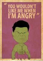 Bobblehead Hulk Poster by Procastinating