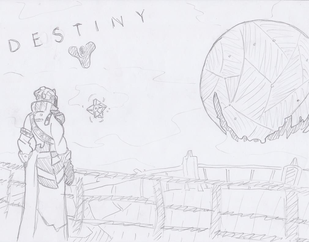Destiny Sketch by Drakonias115
