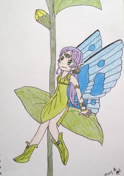 Fairy on a Leaf.