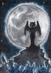 strong at moonlight night