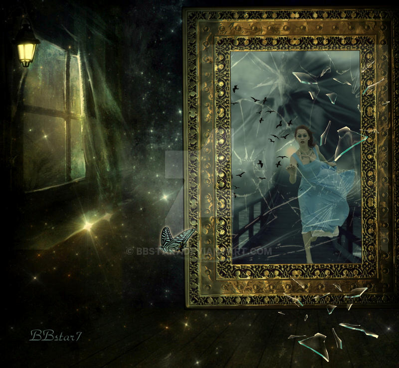 The broken mirror by bbstar7 on deviantart for Image miroir photoshop