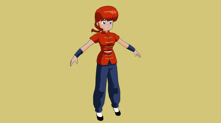 3D Model Ranma Saotome Female WIP by afredenucci