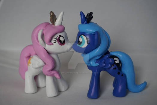 Filly Luna and Filly Celestia