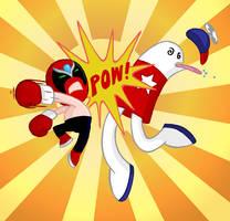 Strong Bad VS Homestarrunner by captainsponge