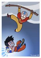Goku VS Aang by captainsponge