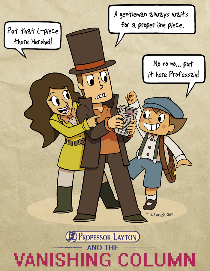 Professor Layton and the Vanishing Column by captainsponge