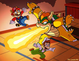 Mario and Luigi VS Bowser
