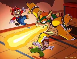 Mario and Luigi VS Bowser by captainsponge