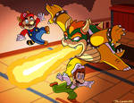 Mario and Luigi VS Bowser