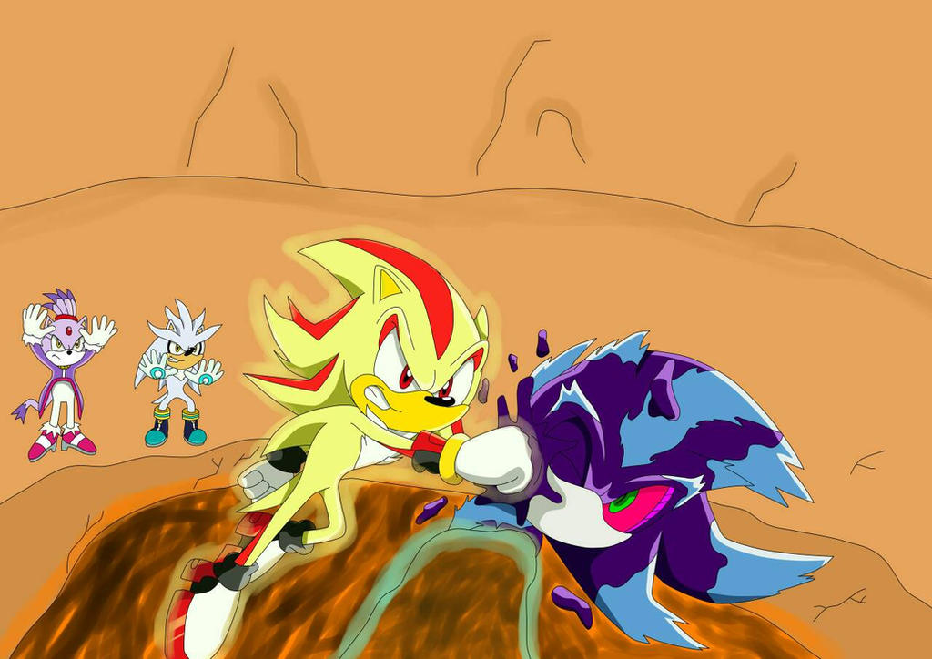 blaze, shadow and silver vs mephiles by artsonx on DeviantArt