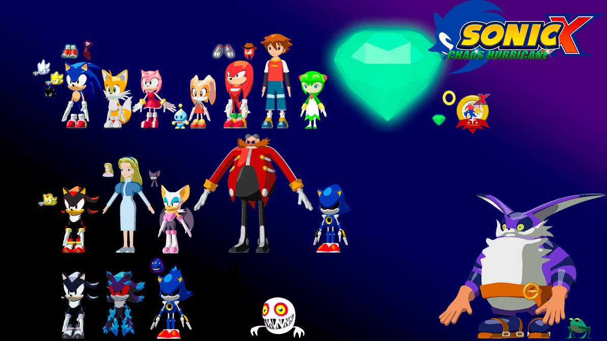 Sonic x: Chaos Hurricane 3D models by artsonx on DeviantArt