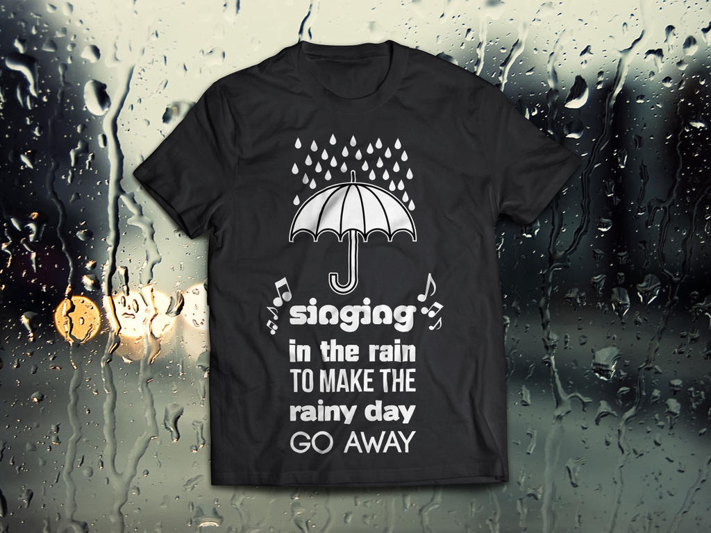 Singing in the rain - T-Shirt by comodore64