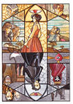 Reflections: Edgar Allan Poe and Emily Bronte by Teodora85