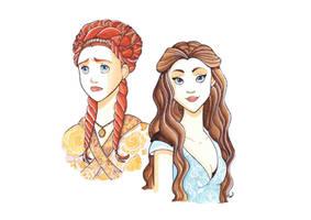 Sansa Stark and Margarey Tyrell by Teodora85